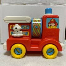 Vintage 1980s Playskool Busy Fire Truck Collectible Toy - $14.55