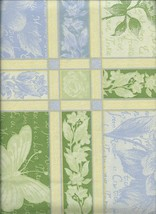 """Sweet Botanical Butterfly Floral 52"""" x 90"""" Vinyl Tablecloth w Flannel Back  - $12.99"""