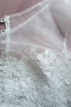 White Sleeveless Lace Crop Top Wedding Bridesmaid Lace Tops Custom Wedding Tops  image 6