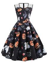 Plus Size Halloween Vintage Pumpkin Ghost Bat(BLACK 1X) - $14.09