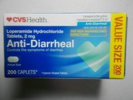 CVS Health Anti-Diarrheal 2mg Tablets, 200 Caplets Exp 10/20 - $29.69