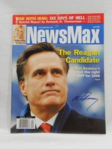 Mitt Romney SIGNED April 2007 NewsMax Magazine Cover AUTOGRAPHED Republican - $89.09