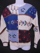 WOOLRICH Vintage 90s Womens Cardigan Style Sweater Handframed Metal Butt... - $38.00
