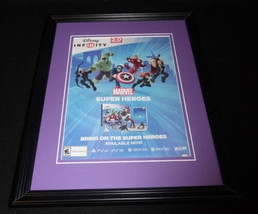 Disney Marvel Infinity 2014 PS3 Framed 11x14 ORIGINAL Vintage Advertisem... - $22.55
