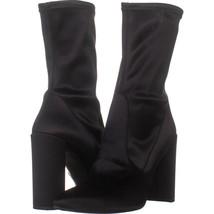 Stuart Weitzman WH Block Heel Pointed Toe Ankle Boots, Black Satin 176, ... - €98,83 EUR