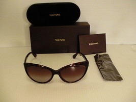 """Tom Ford Neuf Lunettes de Soleil Femme """" S Chat Eye Tf 231 Tortue 52F Ma... - $167.41"""