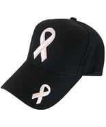 Breast Cancer Awareness Solid BCA Pink Ribbon Baseball Cap (Black) - $12.95