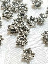 10 - Five Point Fine Pewter Spacer Beads 4x5x5mm; Hole 1.5mm image 3
