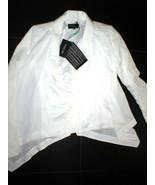 NWT New Womens 6 M Designer Patrizia Pepe White Jacket 42 Italy Flowy As... - $278.00