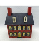 Winfield Designs - The Brick Country House - wooden coin bank - signed 1985 - $18.32