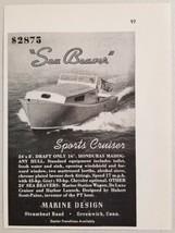 1949 Print Ad Sea Beaver Sports Cruiser Boats Marine Design Greenwich,CT - $9.78