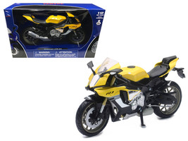 2016 Yamaha YZF-R1 Yellow Motorcycle Model 1/12 by New Ray - $25.33