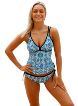 Women's Two Piece Tankini Bathsuit Swimsuits Graphic Printed Swimwear  - $17.99