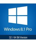 Windows 8.1 Pro  Product Key Full Version Professional License 32 64 - $6.99