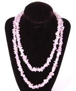 "Quartz Beaded Necklace-38""-Purple-Jewelry-Rock Hound-Cool Gift - $37.39"