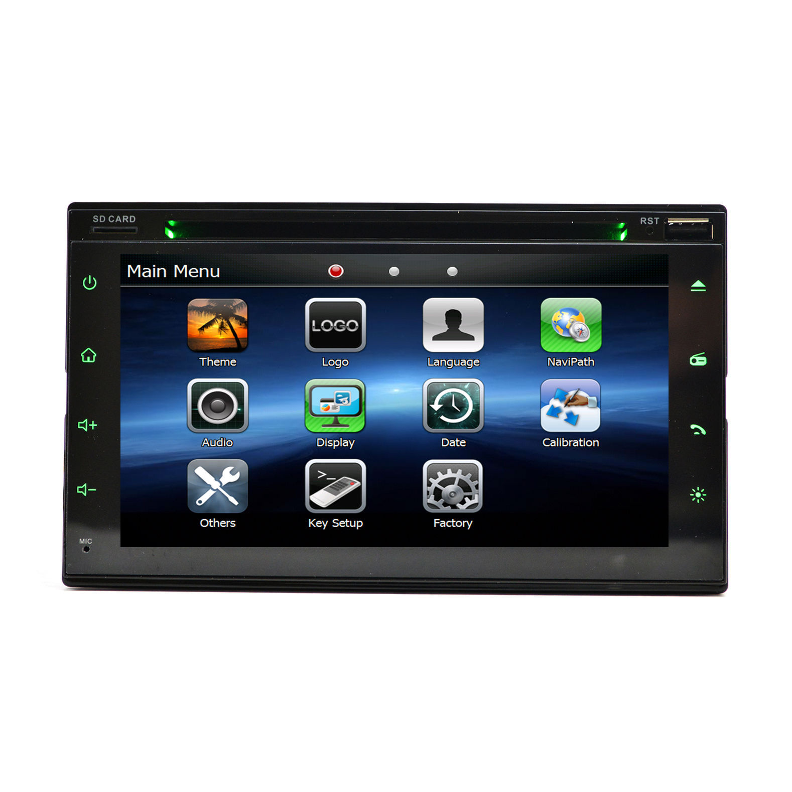 2008-13 Mitsubishi Lancer In Dash DVD GPS Navigation Radio Player with Dash Kit