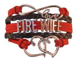Firefighters Wife Gift, Fire Wife Bracelet, Proud Firefighters Wife Char... - $9.99