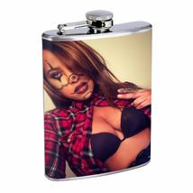 Chola Pin Up Girls D18 Flask 8oz Stainless Steel Hip Drinking Whiskey Gangsta - $12.82