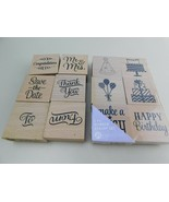 Hampton Art Stamps 12 pcs  Rubber Stamps Wedding Birthday - $18.99