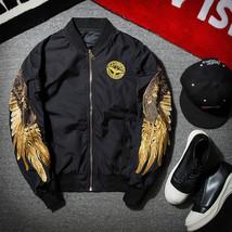 2018 New Spring Black Embroidery Bomber Jacket Men Streetwear Brand-clot... - $68.78