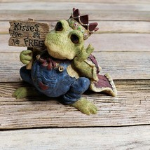 Boyds Wee Folkstone Ribbit Prince of Tales Kiss Me Quick Frog Toad Style... - $29.69