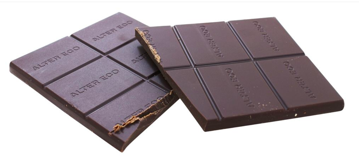 Keto Candy: Alter Eco Dark Chocolate low carb Blackout 2 bars(7 net carbs)