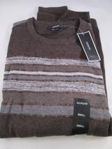Alfani Mens Brown Striped Long Sleeve Crew Neck Sweater Shirt - Small - ... - $16.88