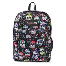 Trans Jansport Supermax Backpack Sugar Skulls 17 inches Laptop Sleeve Po... - $49.08 CAD