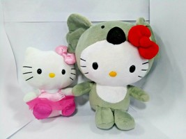 "Hello kitty plush lot Of 2 hello kitty in koala suit 9"" bow kitty 6"" TY ... - $11.30"