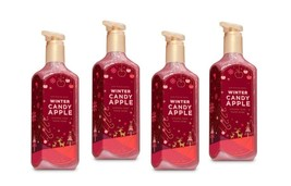 Lot of 4 Bath & Body Works Winter Candy Apple Creamy Luxe Hand Soap 8 fl oz - $23.95