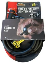 Bell Cable Bike Lock With Lighted Key - 6 feet long - 12 mm diameter - Brand New - $14.84