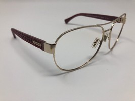 Coach Sunglasses HC 7055 L947 Gold Red Aviator 922414 59mm Frame Only CE20 - $65.32