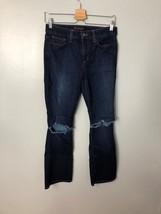 Joe's The Icon Crop Boot Jeans Sz 27 4 Lisa Mandala Deconstructed Knees ... - $41.72