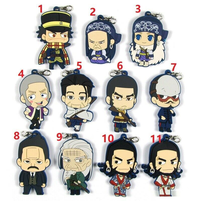 Primary image for Golden Kamuy Rubber Strap Anime Figure Keychain Keyring Bag Pendant Phone Charm