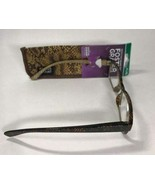 """Foster Grants Crystal Vision """"Veronica"""" Brown +2.00 Reading Glasses w/case - $7.00"""
