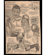 Marvin Hagler Sports Cartoon Caricature Newspaper Clipping 1970s Boxing ... - $10.99