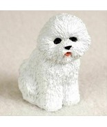 BICHON FRISE TINY ONES DOG Figurine Statue  Resin Miniature - $9.99