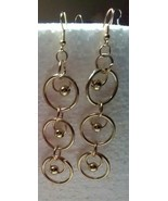 What Knots Circle In Circle Small Hoop Dangle Earrings Women - $6.99