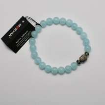 Silver 925 Bracelet with Hematite Jade Blue BPR-5 Made in Italy by Maschia image 1