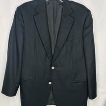 Samuelsohn Mens Blazer Black Size 42S Detailed Buttons Jacket Wool Cashm... - $29.69