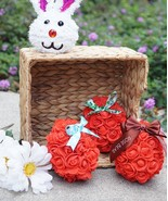 Artificial Rose Easter Egg Collectible, Easter Eggs, Easter Gift - $19.80
