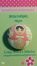Matryoshka #6 Needleminder fabric cross stitch needle accessory - $7.00