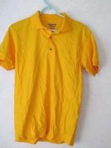 NWOT Gildan Dry Blend Yellow Short Sleeve Regular Fit Polo Shirt! Sz Small! - $5.95