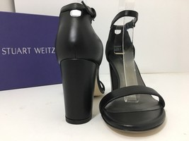 Sandal 5 Weitzman Strap Ankle NEW M 'NearlyNude' SZ Black 7 Leather Stuart qXHfWwOv5U