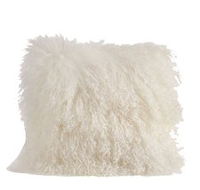 Fennco Styles Genuine Mongolian Lamb Fur Down Filled Decorative Throw Pi... - $108.89