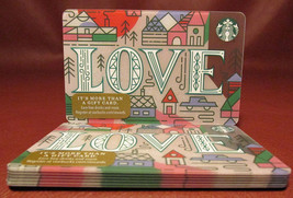 Lot of 8 Starbucks 2017 LOVE Gift Cards New with Tags - $14.60
