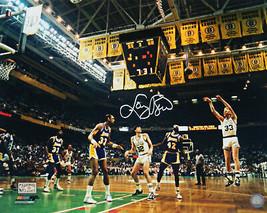 LARRY BIRD Signed Celtics Action 16x20 Photo vs Lakers - BIRD HOLO - ₹17,522.16 INR