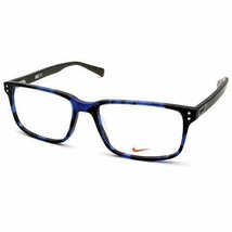 NEW NIKE 7240 420 Blue Tortoise Eyeglasses 53mm with Case - $98.95