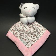 Carters White Bear Lovey Security Blanket Bow Blankie NuNu Blank Blank S... - $14.99