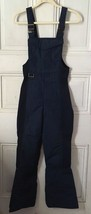 Vtg Eddie Bauer Blue Insulated Bib Ski Pants Small - $39.95